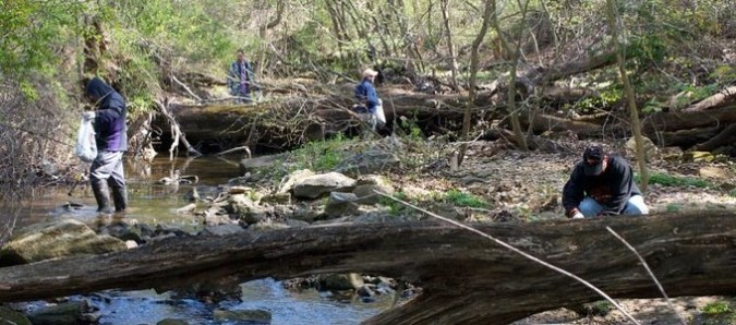 Regional Stream Cleanup in Baltimore