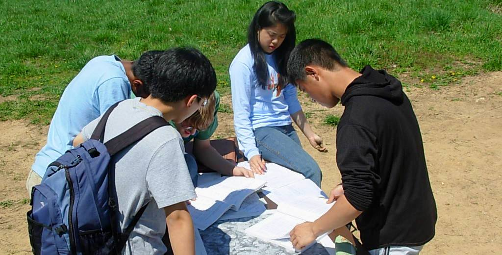 Image of students participating in the 2008 Envirothon.