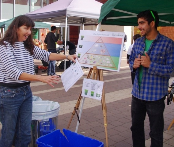 Picture of Silver Spring Green recycling demonstration.