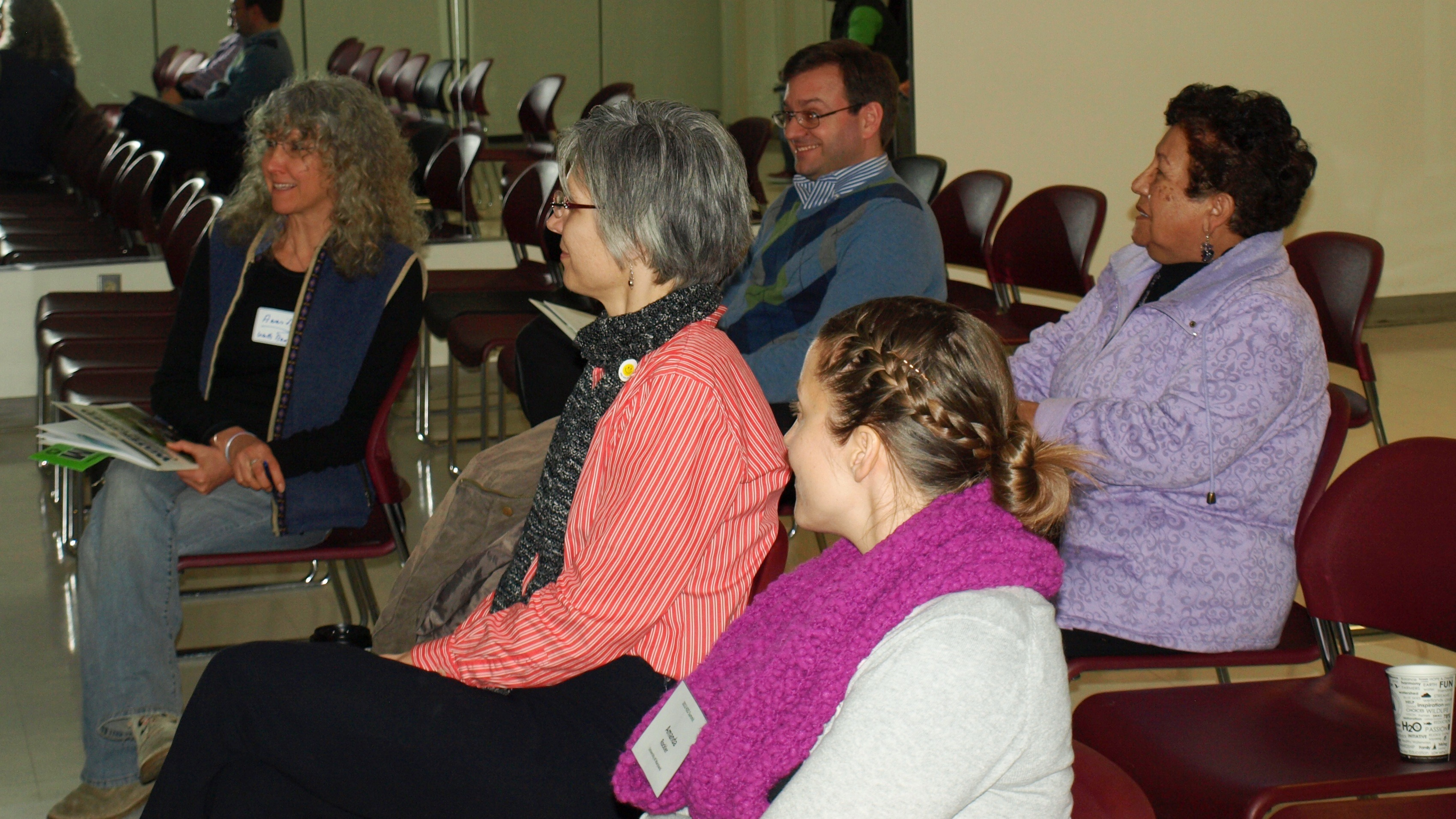 Photo of participants in the Spanish language session.