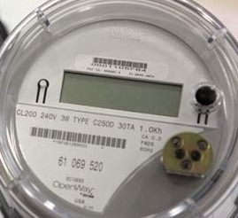 Photo of a smart meter up close.