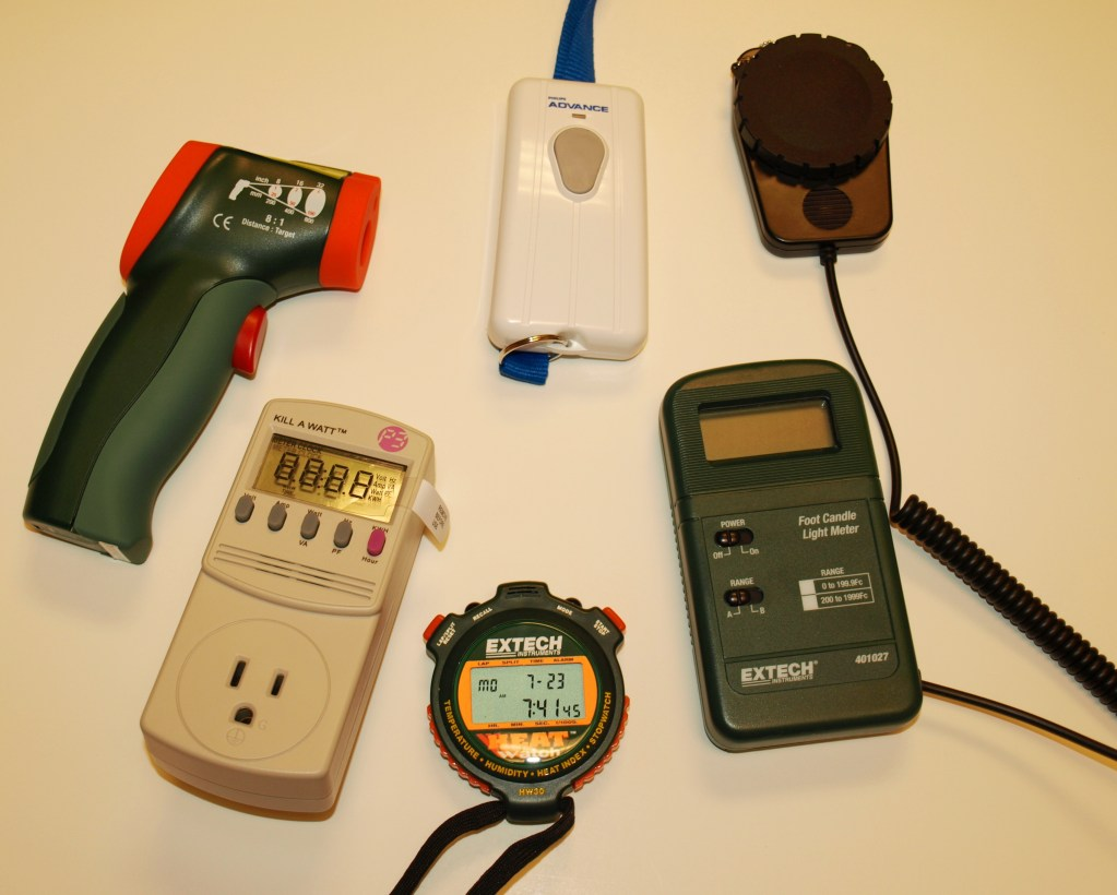 Image of energy tools available for loan to the public.
