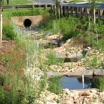 Image of the Dennis Avenue stormwater facility. They are regenerative step pools.