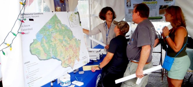 Image of Department of Environmental Protection staff at the 2012 County Fair.
