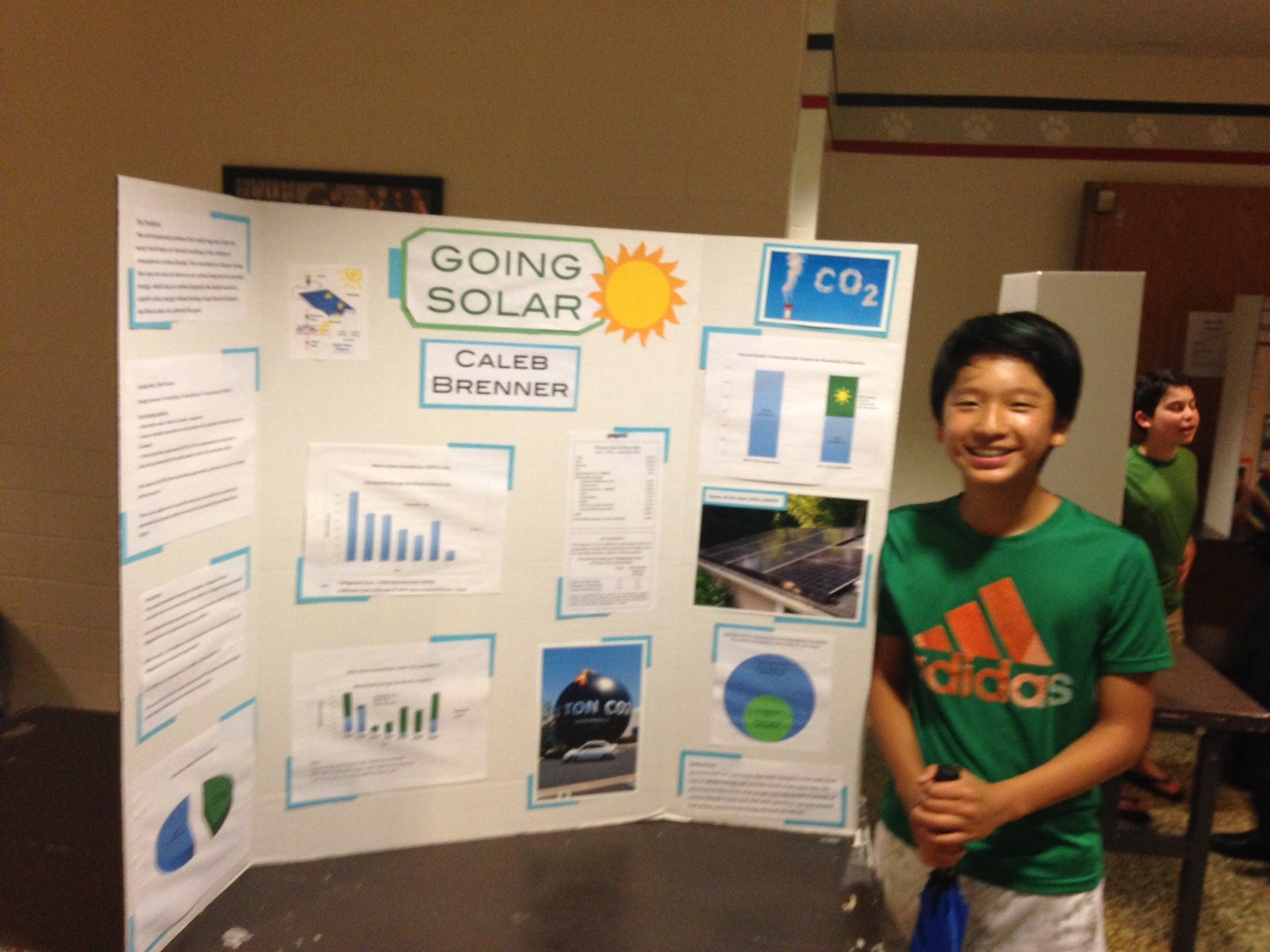 Pyle middle school student my green montgomery for Solar energy projects for kids