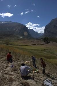 Image of Michelle Vigen backpacking across Peru.