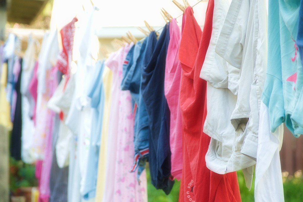 Image of clothes hanging on a line.