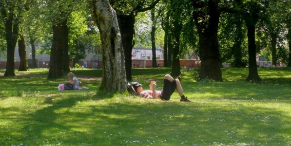 Image of guy in the park by Alex Pepperhill