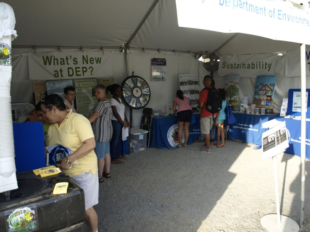Image of the Watershed Management and Office of Sustainability Tent