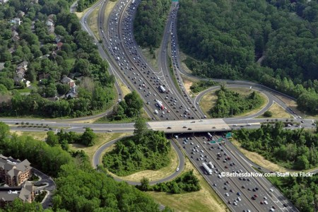 Capital Beltway Traffic. Copyright BethesdaNow.com Staff via Flickr.
