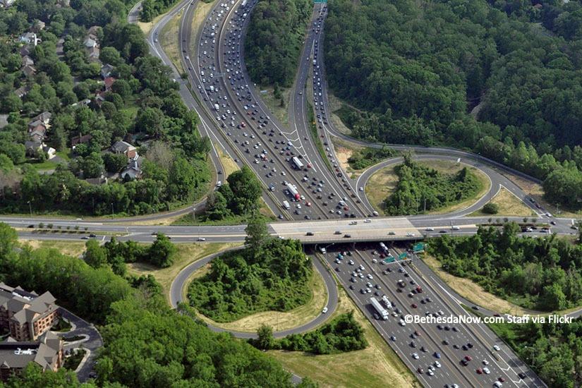 Capital Beltway Traffic. Copyright BethesdaNow.com Staff via Flickr.