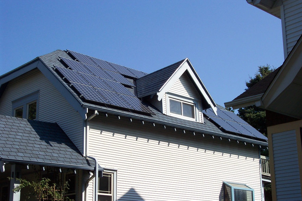 Solar Panels. Copyright mjmonty, Flickr