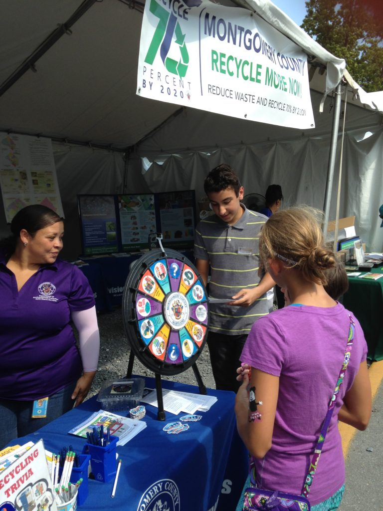 Image of the Solid Waste Services tent