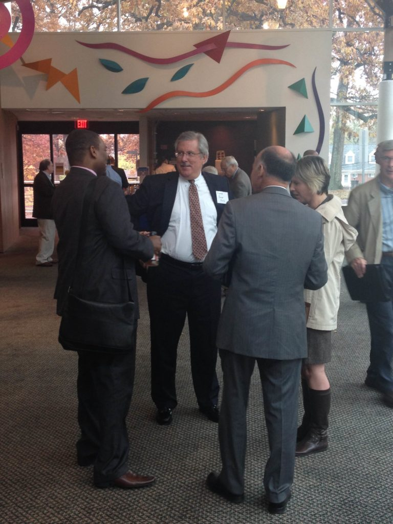 Networking at the Nov 6 benchmarking meeting