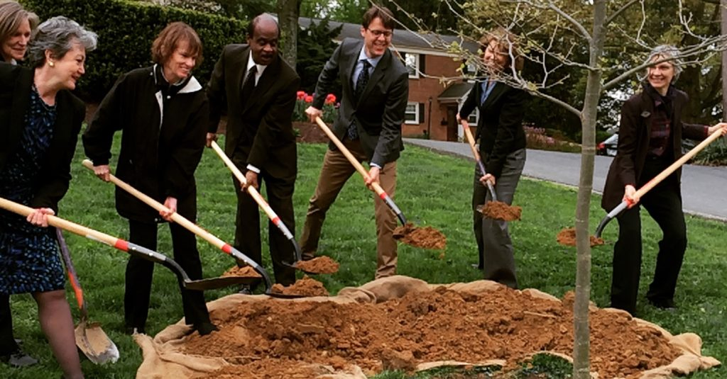 Inaugural tree planting for launch of Tree Montgomery program