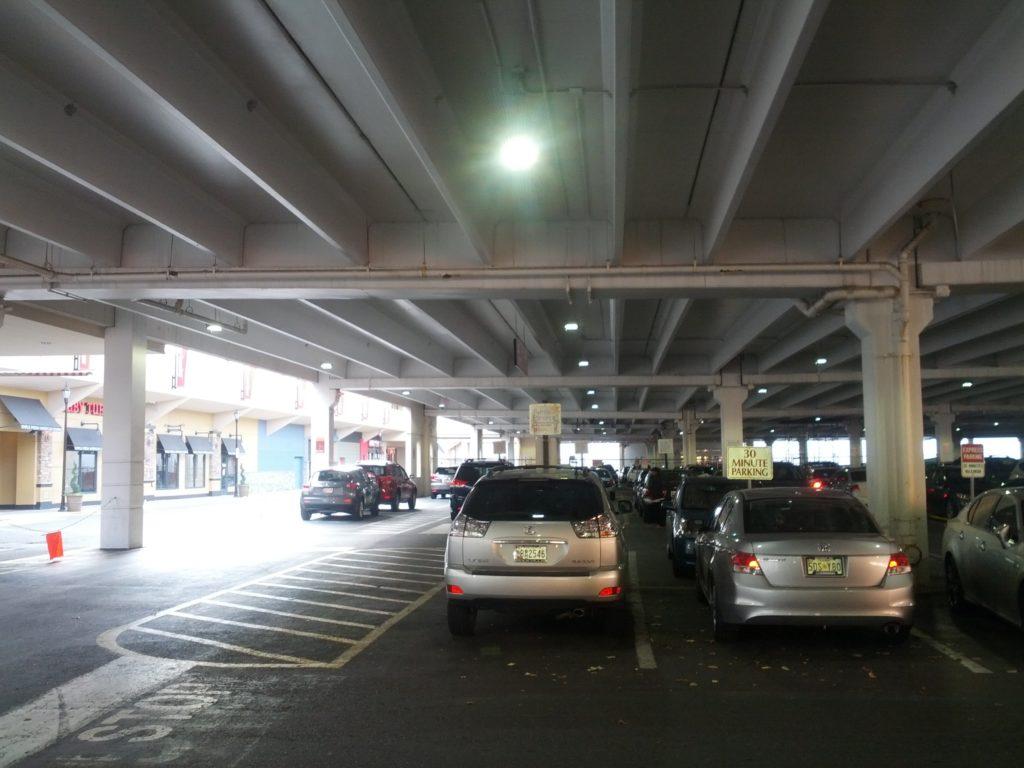 Westfield parking garage lighting