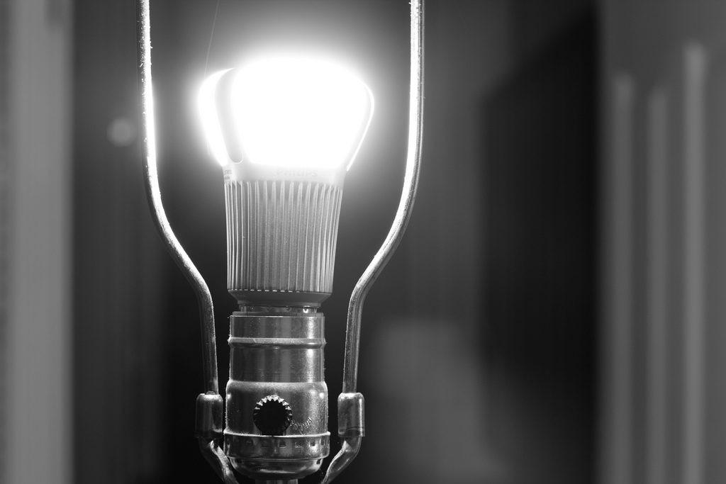 Photo of an LED lightbulb.