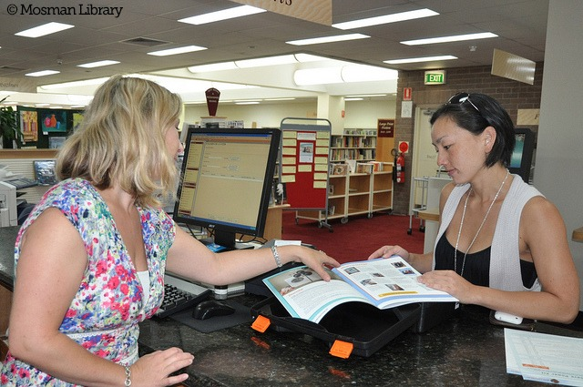 Checking out energy tools from a library by Mosman Library, flickr