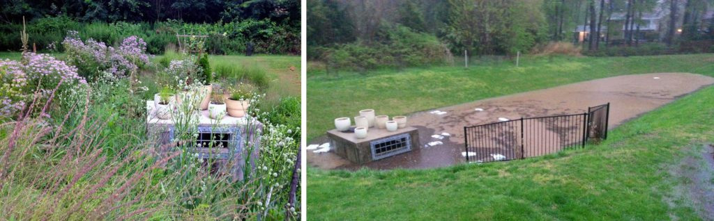 After and Before photos of Adat Shalom Conservation Landscaping