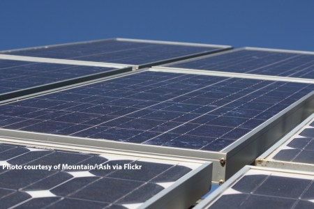 Image of solar panels, courtesy of Flickr user Mountain /\ Ash