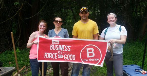 Roundpeg, a B Corp, staff volunteering event.