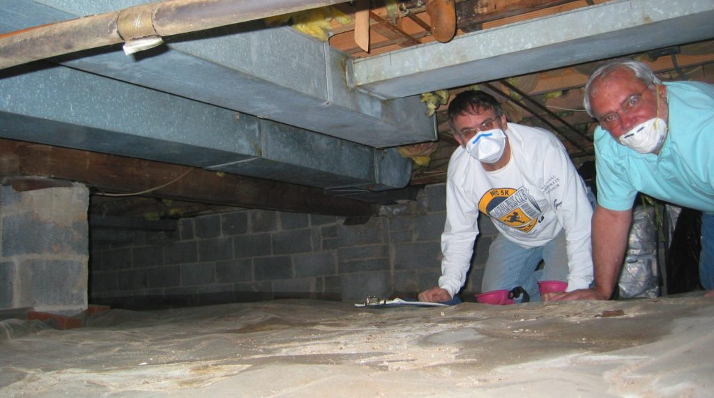 Assessing a crawl space