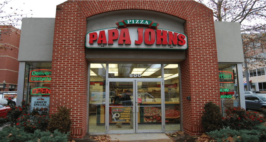 An image of a Papa John's store