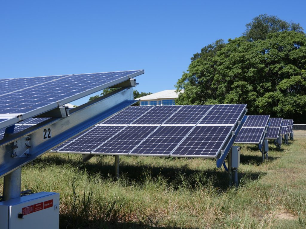 Solar Panels at the USDA Solar Project