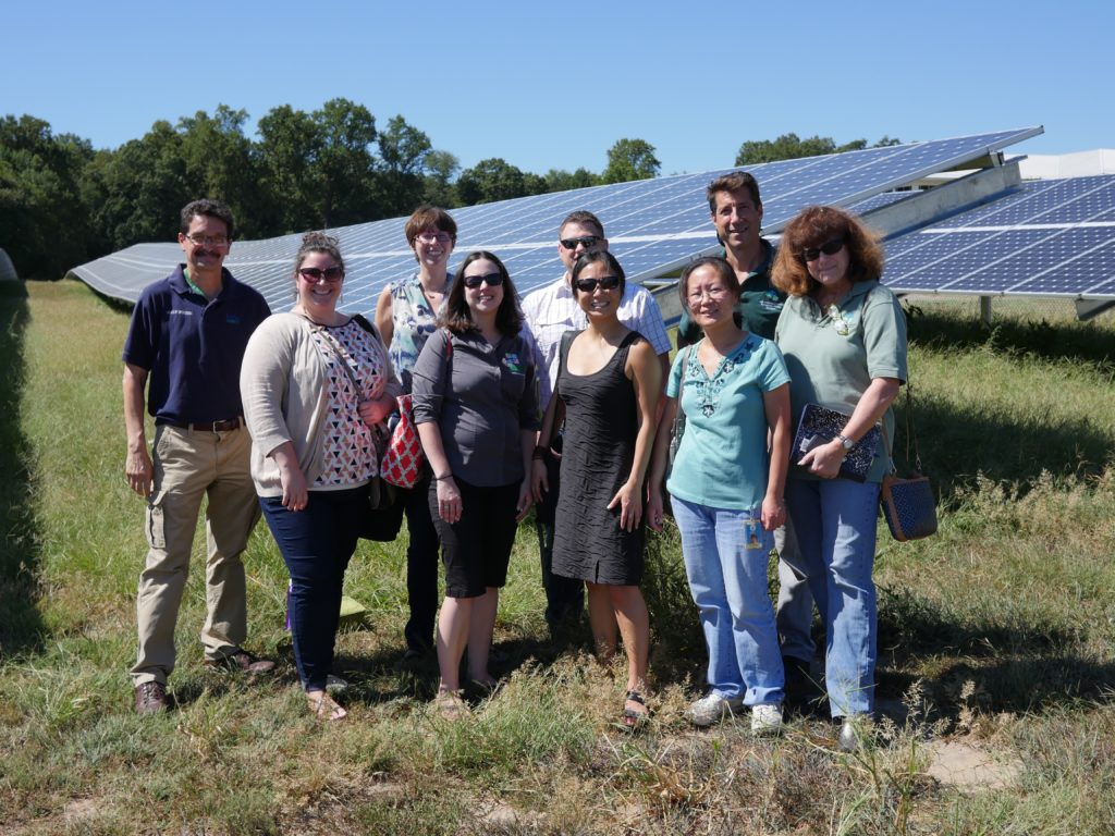 DEP staff on a USDA solar tour