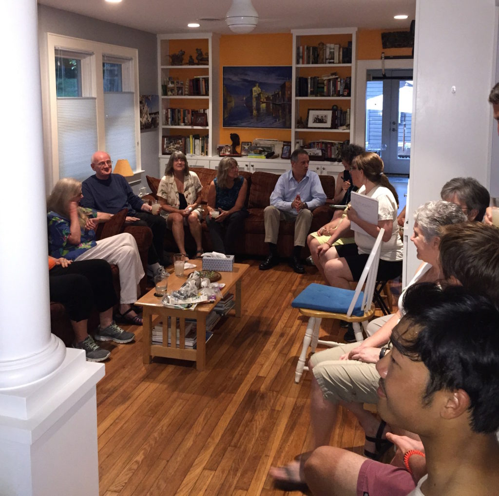 Image of neighbors meeting to discuss the energy challenge
