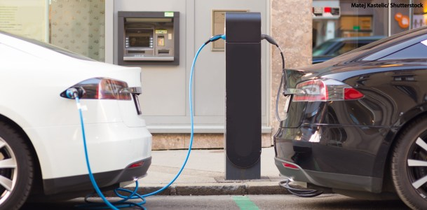 Electric Vehicles Charging by Matej Kastelic/Shutterstock