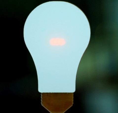 Blue LED Light Bulb. Image by David Mellis/Flickr.