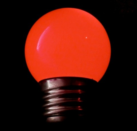 Red LED Light Bulb. Image by CoCreatr/Flickr