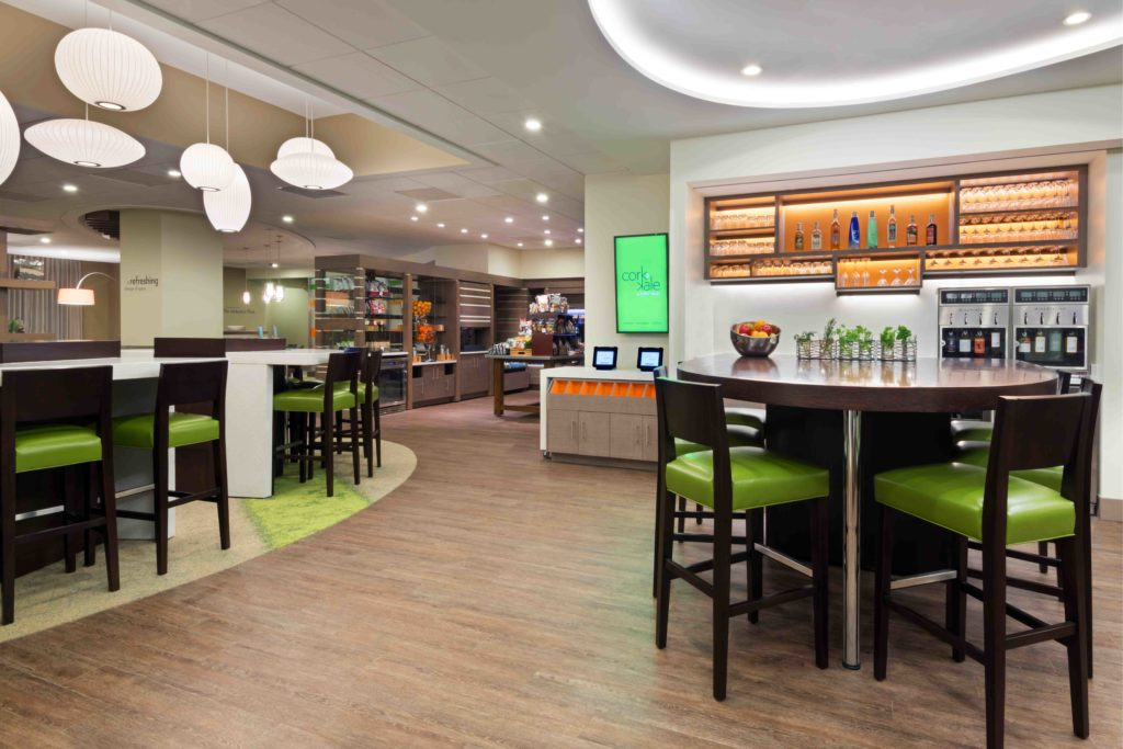 Interior shot of the cafe in EVEN Hotel