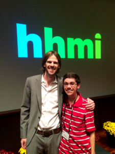 Elliott Davis and Dr. Robert Pringle at HHMI Ecology Lecture Series