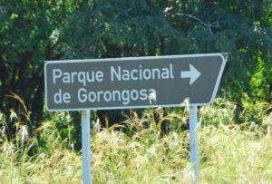 Gorongosa National Park sign. Photo by F Mira/Flickr