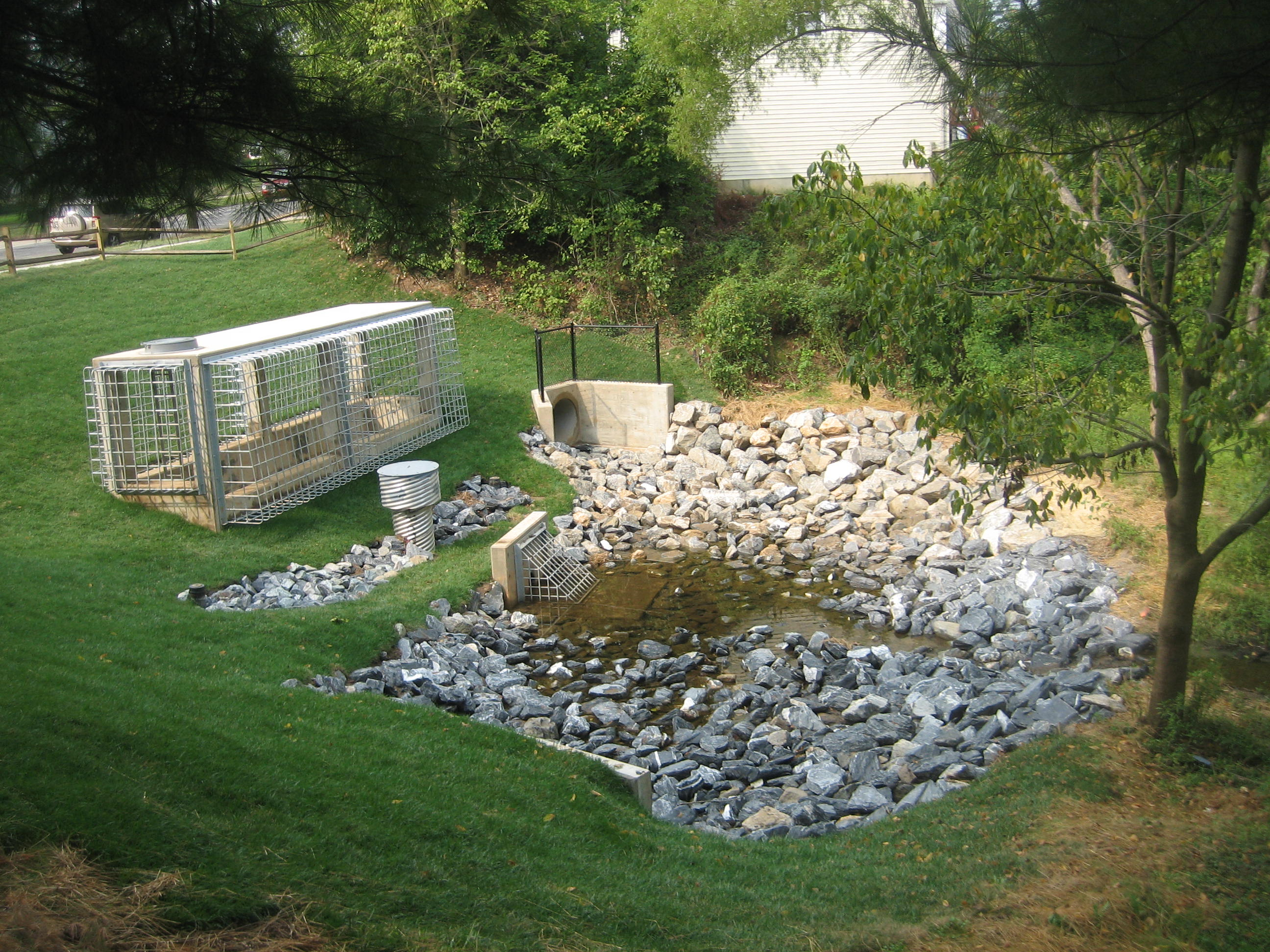 Ponds department of environmental protection montgomery county md - Repaired The Chadswood Regional Stormwater Management Pond
