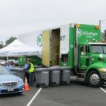 Paper shredding and recycling event
