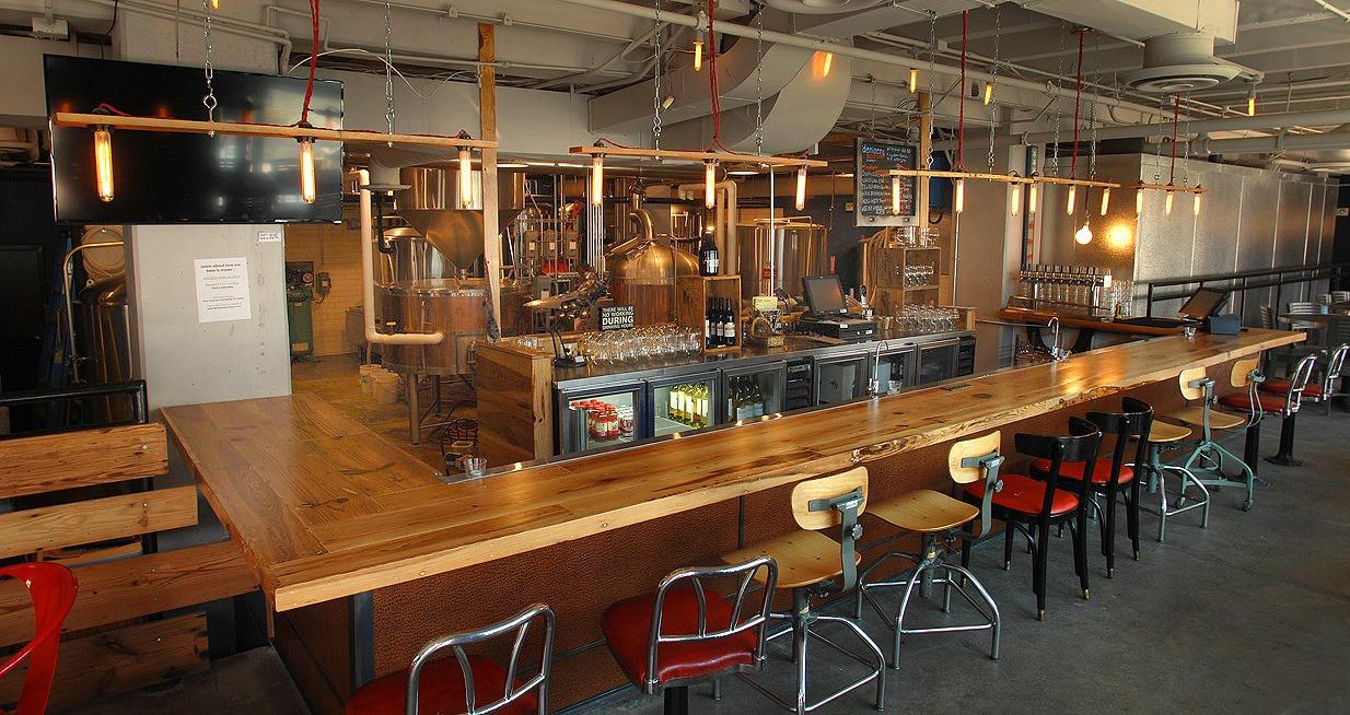 Interior photo of bar