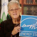 EPA Administrator Gina McCarthy holding the ENERGY STAR logo