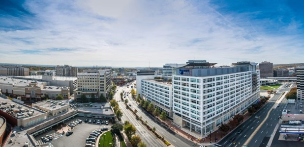 Panoramic image of downtown Silver Spring