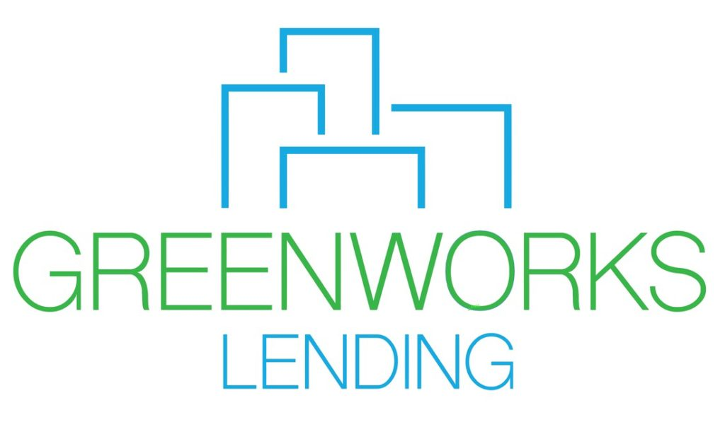 An image of the Greenworks Lending logo, with building silhouettes surrounding the words
