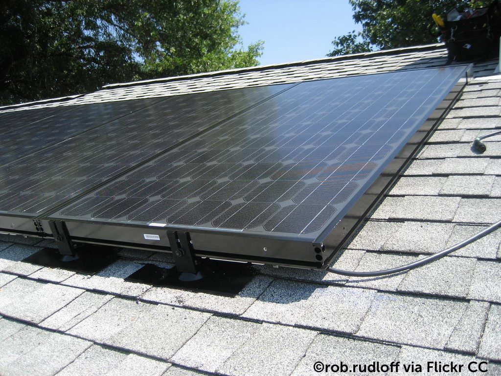 Image of solar panels on a roof