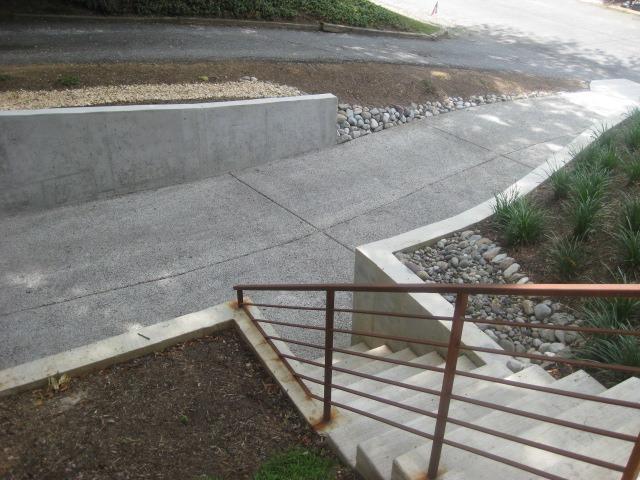 Porous concrete driveway