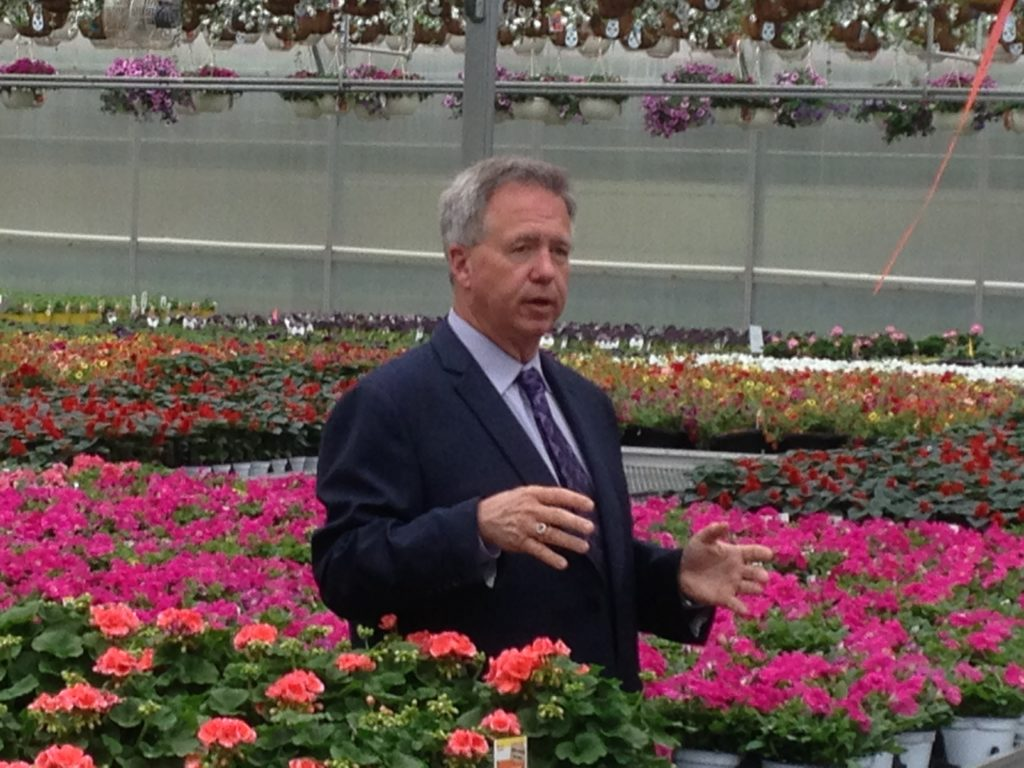Gary Mangum, President and CEO, Bell Nursery, at one of the nurseries