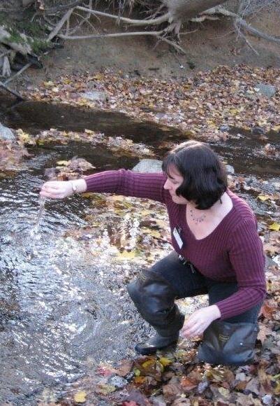Leah sampling water