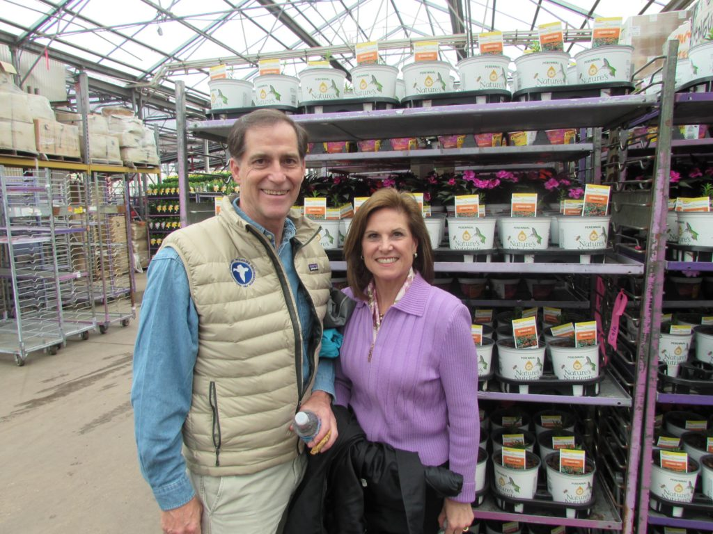 Dan Ashe and Barbara Ashe at Bell Nursery
