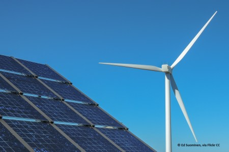 Solar and wind renewable energy options