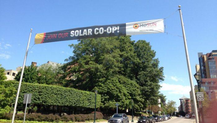 Rockville's Solar Co-Op Banner