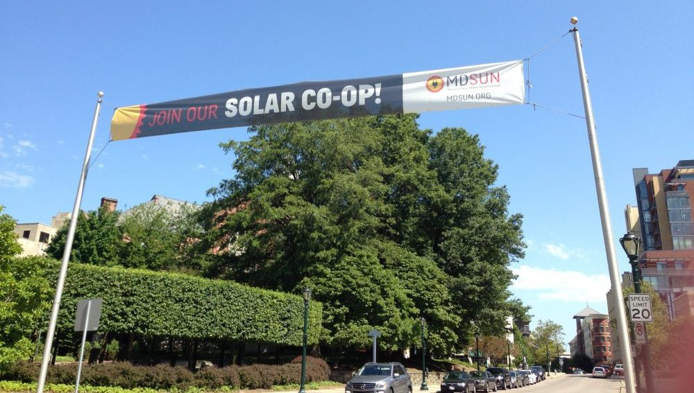 Rockville's Solar Co-Op Banner